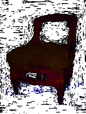 imagen de butaca en proceso de tapizado
